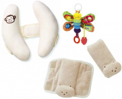 Summer Infant Cradler Head Support and CushyStraps with Take Along Toy, Ivory