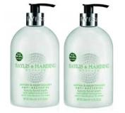 (2 PACK) Baylis & Harding Anti Bacterial JASMINE & APPLE BLOSSOM Hand Wash x 500ml