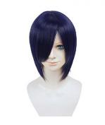 Etruke Anime Short Purple Tokyo Ghoul Toka Kirishima Costume Cosplay Wigs