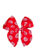 Handmade Red and White Swirls Print Hairbow - Silly Old Sea Dog