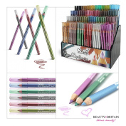288 x EYELINER/LIP LINER PENCILS WITH DISPLAY STAND DIFFERENT COLOURS WHOLESALE