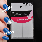 ELENXS Beauty Accessories 18 Style DIY Chic French Manicure Nail Art Tips Tape Sticker Guide Stencil
