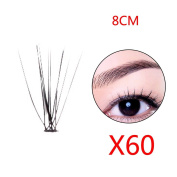 ELENXS Beauty Accessories 60pcs Individual Lashes Semi-Hand Made Black False Eyelash Natural Long Cluster Extension Set Makeup 8/10/12mm