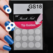 ELENXS Beauty Accessories DIY French Manicure Nail Art Tips Tape Sticker Guide Stencil New