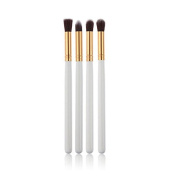 Tenflyer Pack of 4 Professional Foundation Blush Blending Eyeshadow Makeup Brush Cosmetics Flat Round Angled Tapered Top Brush