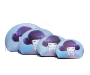 Azzaria...Set Of 4 Character Girl Make-up Bags...Blue...Length: 23cm (Widest Point) Width