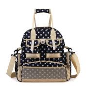 Hoxis Multifunction Polka Dots Baby Boom Nappy Backpack Larger Capacity Nappy Changing Bag