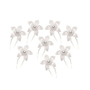 WINOMO 8pcs Delicate Women's Bridal Bling Crystal Rhinestone Decorated U-Shaped Hairpins Hair Clips