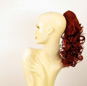 Hairpiece ponytail curly woman 40 cm copper intense 40 cm ref 3 350