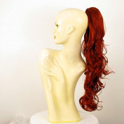 Hairpiece ponytail woman long wavy copper intense 65 cm ref 6 350