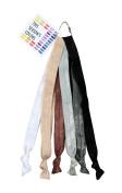 Neutral Elastic Headband Hair Ties Set of 6; 1.6cm Wide