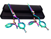 Swivel Professional Hairdressing Thinning Hair Cutting Scissors Shears Set 15cm Japanese+case