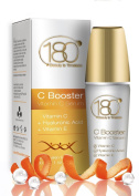 180 Cosmetics C Booster - Vitamin C Serum with Hyaluronic Acid and Vitamin E, 1 oz / 30 ml
