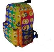 Backpack Bag EMOJI EMOTICON Canvas Full Size School Work Travel Fun