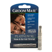 Groom Mate Platinum XL Nose & Ear Hair Trimmer - Made in USA.