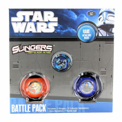 New Star Wars Slingers - Fast Slingin' Action Battle Pack - Clone Trooper & anakin Skywalker Slingers