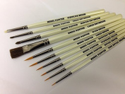Model Painting Brushes Mainly in synthetic filament, for Warhammer 40K Wargaming, Airfix, Foundry, Army Painter, Miniatures, Figurines etc.