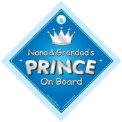 Nana and Grandad's Prince On Board Car Sign, Prince On Board, Prince on board car Sign, Baby On Board Car Sign, Prince Car Sign, Nan, Nana, Grandad, Car Sign, Baby On Board Sign,Baby on board, Novelty Car Sign, Baby Car Sign