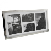 Plain Silver Plated Multi-Aperture Frame 4 Photo Frame Gift