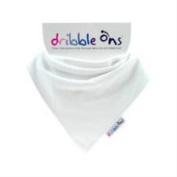 Dribble-Ons Bandana Bib - White Bib - ** 4 PACK **