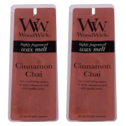 Woodwick Scented Wax Melts - Twin Pack (2 x 4 pack) Choose Your Fragrance-Cinnamon Chai