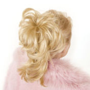 Candy Golden Blonde | Flexihair Clip On Ponytail | Bendable Clip In Hairpiece with 8 Flexible Hair Strands |