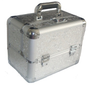 Large Silver Aluminium Beauty Make up Jewellery Vanity Case Box Nail Art hair Salon