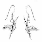 Elements Sterling Silver, Ladies', E3776, Hummingbird Earrings