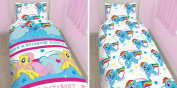 Latest New My Little Pony 'PoP' Single Reversible Duvet Cover Bed Set Fluttershy