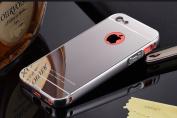 iPhone 5C Case,DAMONDY Luxury Metal Air Aluminium Bumper Detachable + Mirror Hard Back Case 2 in 1 cover Ultra-Thin Frame Case For iPhone 5C
