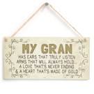 Beautiful Home Accessory Gift Sign For Special Grans