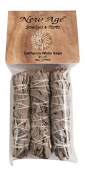 New Age 3-Pack White Sage Smudge Sticks 10cm Mini