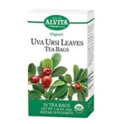 Alvita Teas Organic Uva Ursi Leaves Tea, 24 BAGS