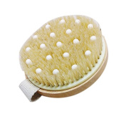 Body Brush - LEORX Bath Shower Bristle Massage Brush with Band