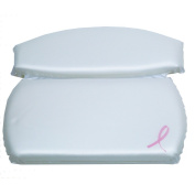 HomeCrate Bath Pealized Breast Cancer Awareness Two Panel White