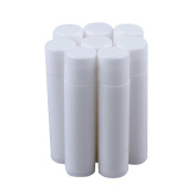 5g White Lip Balm Tubes Empty Lipbalm Containers with Round Lid Pack of 10