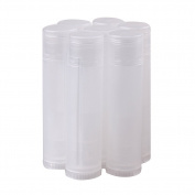 10pcs 5g Clear Transparent Round Lip Balm Tubes Containers with Caps for Lipbalm DIY