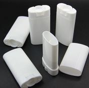 10pcs Empty Oval White Containers Small Sample Tubes Plastic Lip Balm Tubes Lipstick Tube 15ml/5ml