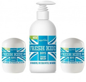 "Fresh Kidz Boys ""Blue"" Natural Deodorant and Body Wash Set"