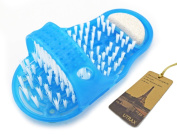 Utrax Hands Free Foot Scrubber Feet Brush Massager Massage Slipper