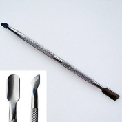 QINF Stainless Steel Dual-use Dead Skin Pusher Callus Removers & Acrylic Nail Remover Nail Tool