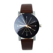 Orangesky Hot!!! Women Quartz Dial Clock Leather Wrist Watch