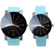 Orangesky Couple Watch!!! 1pair Men and Women Quartz Dial Clock Leather Wrist Watch