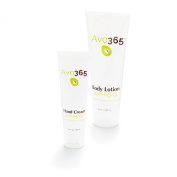Avo365 - Anti-Ageing Hand Cream & Body Lotion (bundle) made with Cold Pressed Avocado Oil, Ceramide-3, Edelweiss Plant Stem Cell, Carrot Seed, Rosehip and Pomegranate