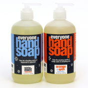 Everyone Hand Soap Winter Mint and Orange Spice Limited Edition, 2 - 380ml bottles