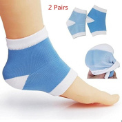 SUNREEK™ Moisturising Silicone Gel Heel Socks for Dry Hard Cracked Skin Moisturising Open Toe Comfy Recovery Socks One Size Fits Most(2 pairs)
