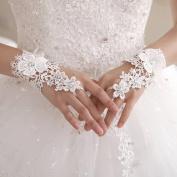 Skyluna® Lace Fingerless Wrist Length Wedding/Party Glove With Rhinestones