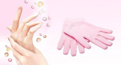 ThunderStar® Beauty Spa Moisturising Gel Pink Gloves Dry Cracked Hand Care Therapy Skin Soften Whitening Treatment
