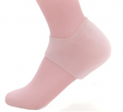 Silicone Gel Heel Protectorfoot Care Gel Cushion Heel Liner Protective Cracked Feet Pressure Pain Relief Socks