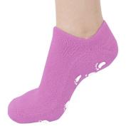 FitDio Moisturising Therapeutic Spa Gel Cracked Heel Treatment Socks, Purple